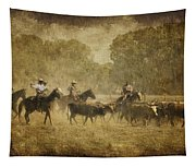 Vintage Roundup Tapestry