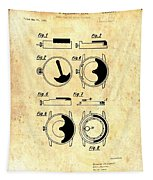 Vintage Self-winding Watch Movement Patent Tapestry