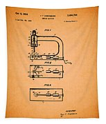 Vintage Sewing Machine Patent Tapestry