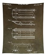 Vintage Sled Patent Tapestry by Dan Sproul