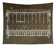 Vintage Starting Gate Patent Tapestry