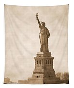 Vintage Statue Of Liberty Tapestry