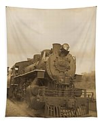 Vintage Steam Locomotive Tapestry