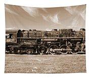 Vintage Steam Locomotive Tapestry