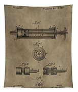 Vintage Syringe Patent Drawing Tapestry