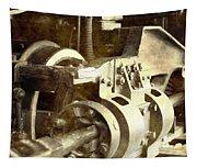 Vintage Train Wheel Tapestry