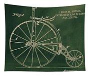 Vintage Velocipede Patent Tapestry