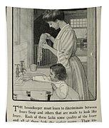 Vintage Victorian Soap Advert Tapestry
