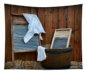 Vintage Washboard Laundry Day Tapestry