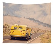 Vintage Yellowstone Bus Tapestry