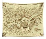 Vintage Yosemite Map 1870 Tapestry