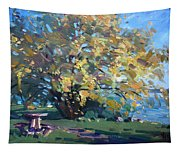 Viola Walking In The Park Tapestry