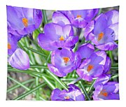 Violet Lilies Tapestry