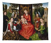 Virgin And Child With Saints Catherine Of Alexandria And Barbara Tapestry