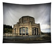 Vista House At Crown Point - Oregon Tapestry