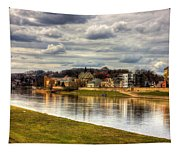Vistula River In Cracow Tapestry