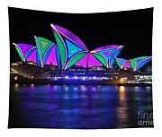 Vivid Sydney By Kaye Menner - Opera House... Patterns 2 Tapestry