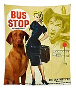 Vizsla Art Canvas Print - Bus Stop Movie Poster Tapestry