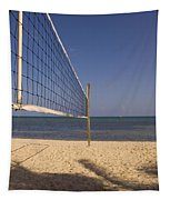 Vollyball Net On The Beach Tapestry