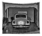 Vw Beetle Digital Painting Tapestry