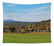Wachusett Mountain From Harvard Ma Tapestry
