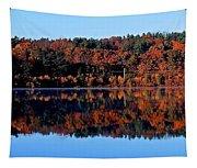 Wachusett Reservoir Mirror Image Tapestry