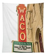 Waco Movie Theater With Sign, Waco Tapestry