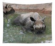 Wading Rhinos Tapestry