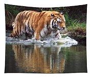 Wading Tiger Tapestry