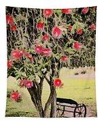 Wagon Wheel Bench Tapestry