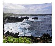 Waianapanapa Pailoa Bay Hana Maui Hawaii Tapestry