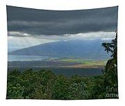 Waipoli Kula View Of West Maui From Haleakala Tapestry