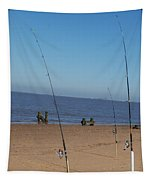 Waiting For A Catch Tapestry