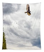 Waiting Turkey Vultures Tapestry