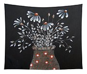 Wake Up And See The Flowers Tapestry