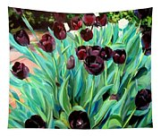 Walk Among The Tulips Tapestry