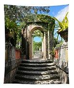 Walk In Vizcaya Gardens Tapestry