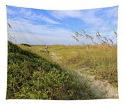 Walk To The Beach Tapestry