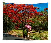 Walking Along The Road. Mauritius Tapestry