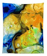 Walking On Sunshine - Abstract Painting By Sharon Cummings Tapestry