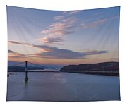 Walkway Over The Hudson Dawn Tapestry