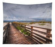 Walkway To The Beach At Romar Access Tapestry