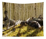 Wall Of Aspens  Tapestry