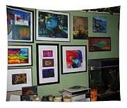 Wall Of Framed Tapestry