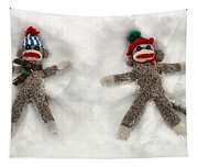 Wally And Petey Snow Angels Tapestry