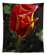 Warm Colored Rosebud  Tapestry