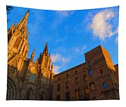 Warm Glow Cathedral - Impressions Of Barcelona Tapestry