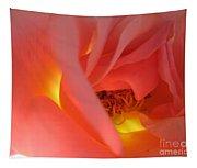 Warm Glow Pink Rose 2 Tapestry