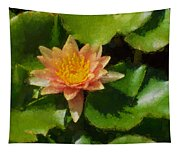 Warm Yellows Oranges And Corals - A Waterlily Impression Tapestry