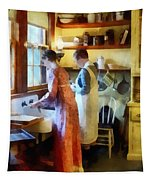 Washing Up After Dinner Tapestry